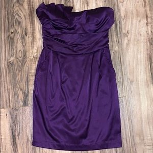 Dresses & Skirts - Strapless purple dress with pockets
